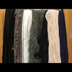 Accessories - 7 different kinds of women scarves all like new!